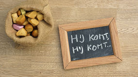 堆荷兰语Pepernoten 免版税库存图片