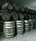 堆葡萄酒桶 免版税库存图片