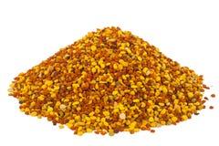 堆蜂花粉,佳肴 免版税图库摄影