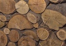 堆被堆积的木柴 免版税库存照片