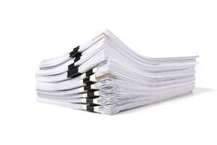 堆被隔绝的工商业票据 库存图片