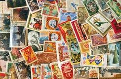 堆过帐苏维埃标记使用的联盟 免版税库存照片