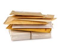 堆邮件 库存照片