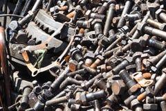 堆金属废料 库存图片