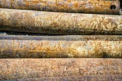 堆金属管子 图库摄影