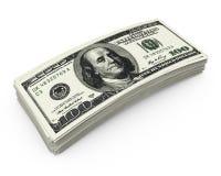 堆金钱 免版税库存图片