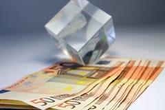 堆钞票50欧元 图库摄影