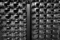 堆铝铸件 图库摄影