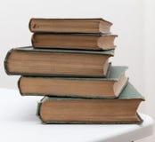 堆非常旧书 免版税库存照片