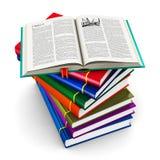 堆颜色精装书 库存图片