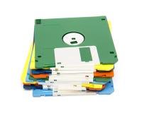 堆颜色软盘 图库摄影