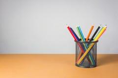 堆颜色铅笔 免版税图库摄影