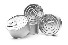 堆食物罐头 图库摄影
