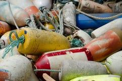 堆龙虾浮体- 4 免版税库存照片