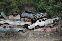 堆经典汽车 免版税库存照片