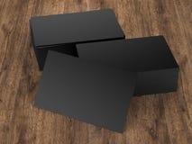 堆黑名片 免版税图库摄影