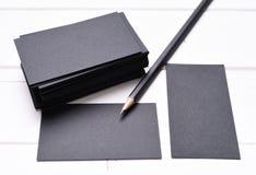 堆黑名片 免版税库存图片