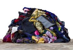 堆织品片断 库存照片