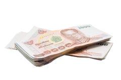 堆1000张泰铢票据 免版税库存图片