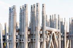 堆建筑脚手架元素 免版税库存图片