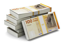 堆100丹麦克郎 免版税图库摄影