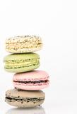 堆macaron曲奇饼 免版税图库摄影