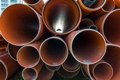 堆pvc管子 免版税图库摄影