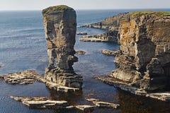 堆Yesnaby在奥克尼,苏格兰 免版税库存照片