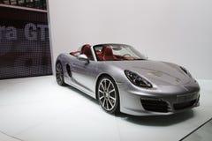 堡侍捷Boxster S -日内瓦汽车展示会2012年 库存图片