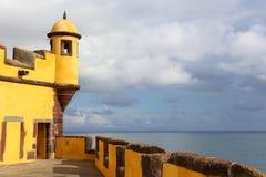 堡垒丰沙尔马德拉岛圣地tiago 库存照片