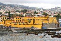 堡垒丰沙尔马德拉岛圣地tiago 免版税库存照片