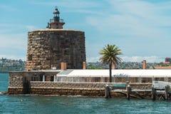 堡垒丹尼斯大学,悉尼港口 库存照片