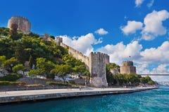堡垒伊斯坦布尔rumeli火鸡 免版税图库摄影