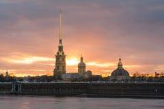 堡垒保罗・彼得・彼得斯堡俄国st 免版税库存图片