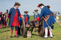 堡垒卡斯蒂略大炮生火 库存图片