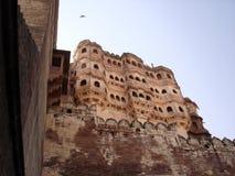 堡垒印度乔德普尔城mehrangarh 库存照片