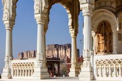 堡垒印度乔德普尔城mehrangarh 库存图片