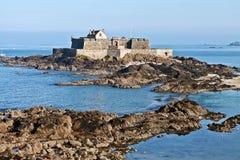 堡垒国民圣马洛湾 免版税图库摄影