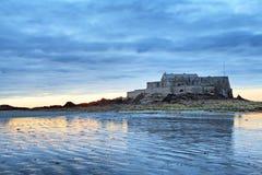 堡垒国民在圣马洛湾,法国 免版税库存照片