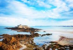堡垒国民,圣徒Malo,布里坦尼,法国 免版税图库摄影