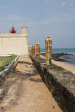 堡垒圣地塞巴斯蒂昂,圣多美和普林西比,非洲 免版税库存图片