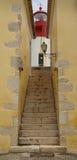 堡垒圣地塞巴斯蒂昂,圣多美城市、圣多美和PR灯塔  库存图片