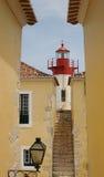 堡垒圣地塞巴斯蒂昂,圣多美城市、圣多美和PR灯塔  免版税库存图片