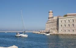 堡垒圣徒吉恩,马赛 免版税库存图片