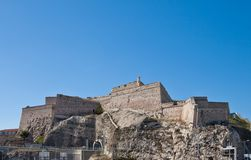 堡垒圣徒尼古拉斯(大约1664)在马赛 免版税图库摄影