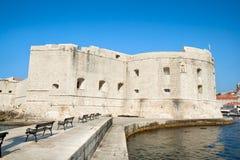堡垒圣约翰岛(Sv Ivana),杜布罗夫尼克市 免版税库存照片