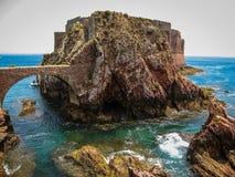 堡垒圣约翰浸礼会教友在Berlenga海岛,葡萄牙 库存照片