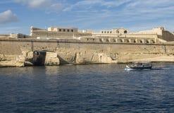 堡垒圣Elmo在盛大港口在马耳他的瓦莱塔 库存图片