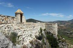 堡垒在奥尔维拉,西班牙 库存图片