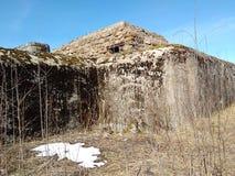 堡垒在岩石被建造了 免版税库存图片
